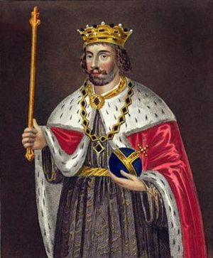 Portrait of Edward II of England.