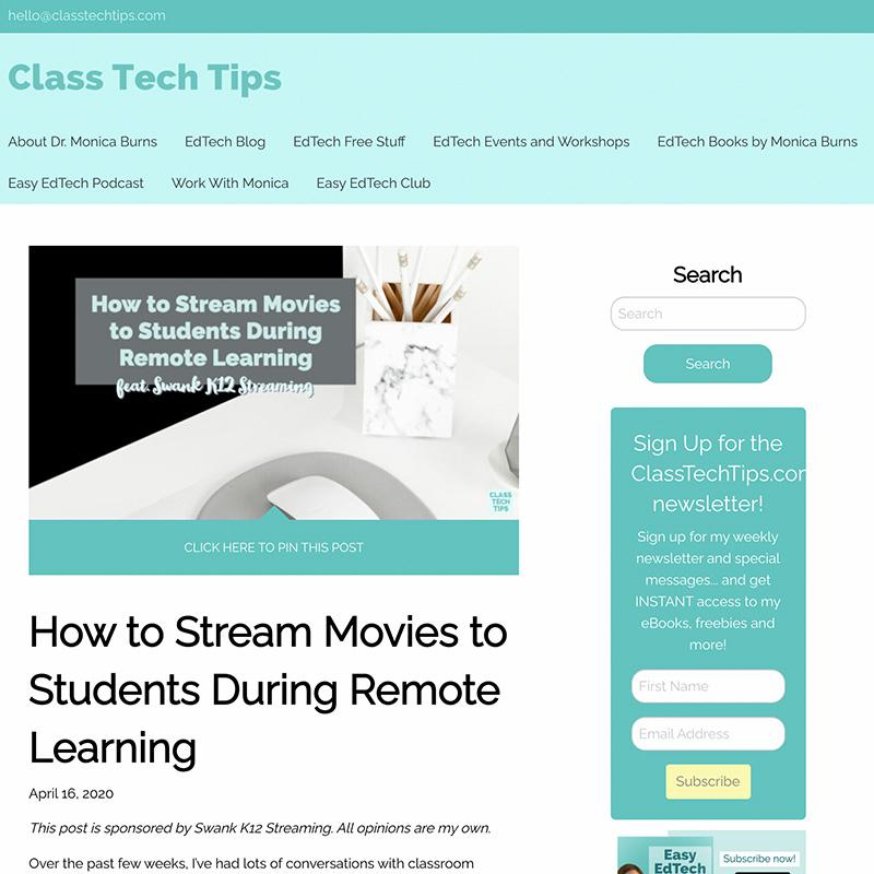 Swank K-12 Streaming Influencer Programming